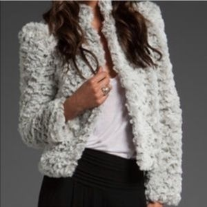 Alice + Olivia Faux Fur Coat Size L
